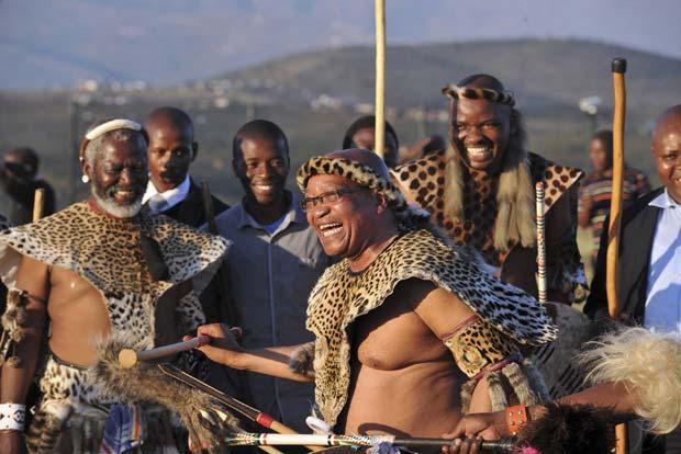 Jacob Zuma durante a cerimônia, em foto divulgada pela presidência (Foto: Reuters)