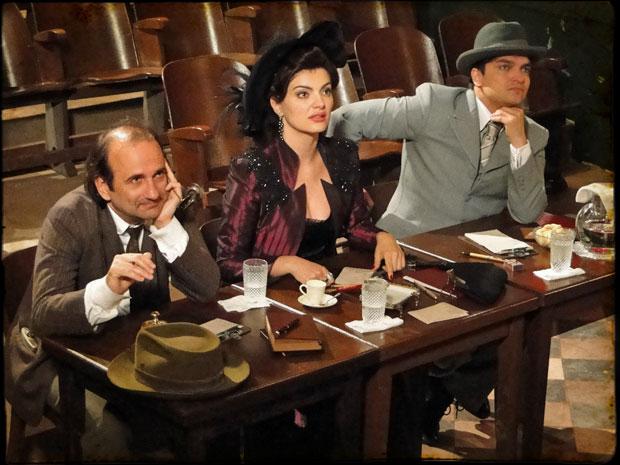 A disputa pelo papel de atriz para o filme fica empatada entre Téinha e Lilica (Foto: TV globo)