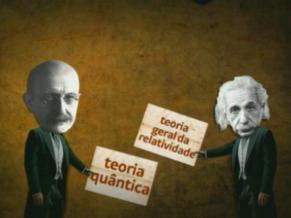Globo Ciência: Albert Einstein e Max Planck (Foto: Reprodução de TV)