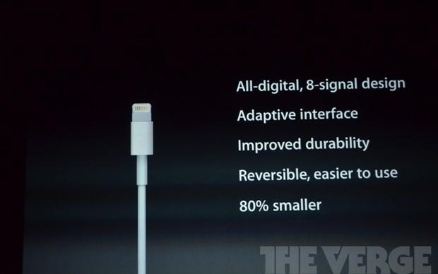 Novo conector do iPhone 5 (Foto: Reprodução / The Verge)