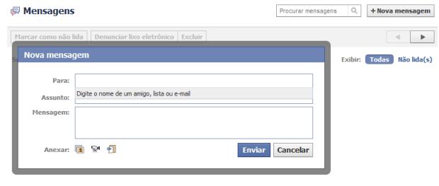 Enviar uma mensagem (Foto: Reprodução/Camila Porto)