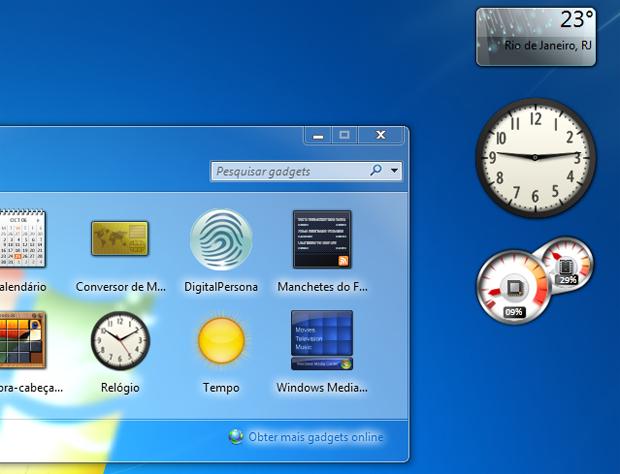 Gadgets do Windows 7