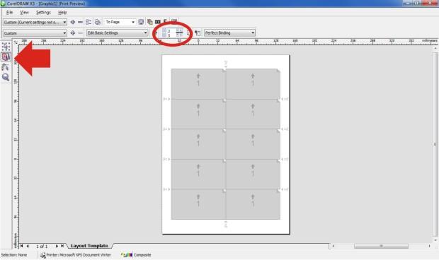 Configurando arquivo para impressão Corel Draw (Foto: Reprodução/Teresa Furtado)