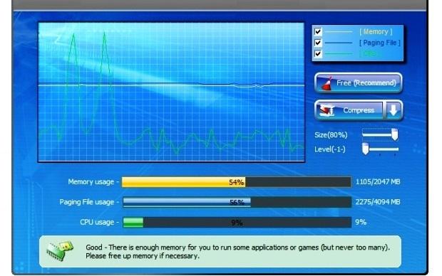 Gráficos demonstram o uso da memória RAM (Foto: Reprodução/Fox Xavier)