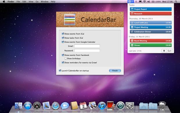CalendarBar para Mac (Foto: Reprodução)