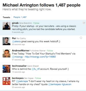 Timeline do Twitter (Foto: Reprodução/TechCrunch)