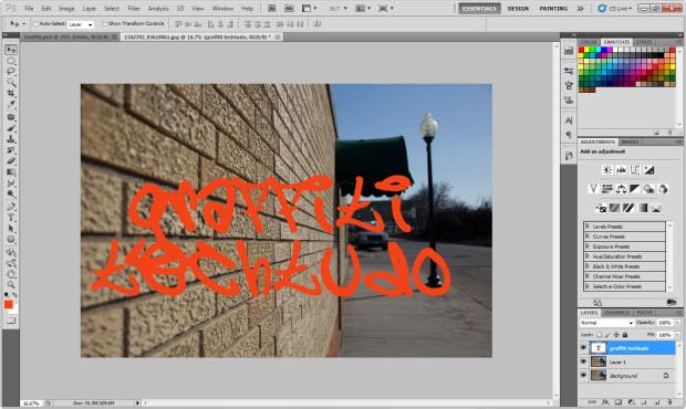 Fonte inspirada em Grafite (Foto: Reprodução)