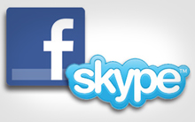 Facebook com Skype (Foto: Divulgação)