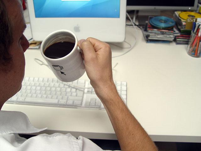 A pausa para o café será quase obrigatória com o MugMouse (Foto: Divulgação)