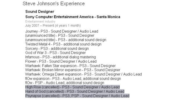 Lista de jogos cancelados e que ainda serão anunciados para PS3 (Foto: Reprodução)