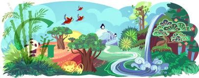 Earth Day Doodle (Foto: Divulgação)