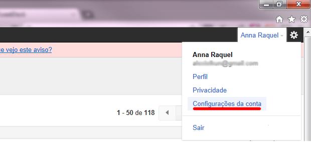 Screenshot do Gmail (Foto: Reprodução/Ana Raquel)