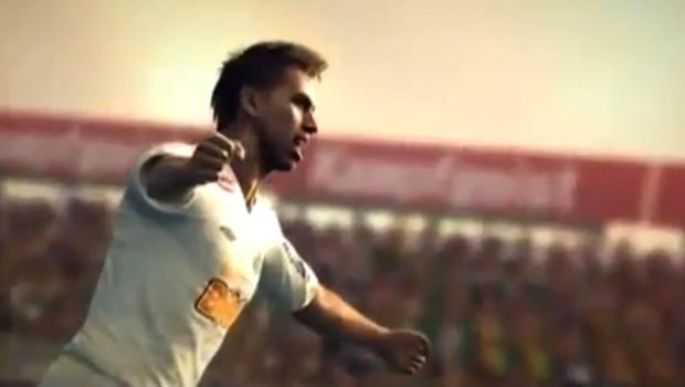 Neymar comemora gol no Pro Evolution Soccer 2012 (Foto: Divulgação)