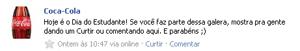 Post em português visível na página. (Foto: Produção)