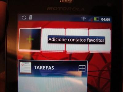 Novos widgets no Milestone 3 (Foto: Eduardo Moreira)