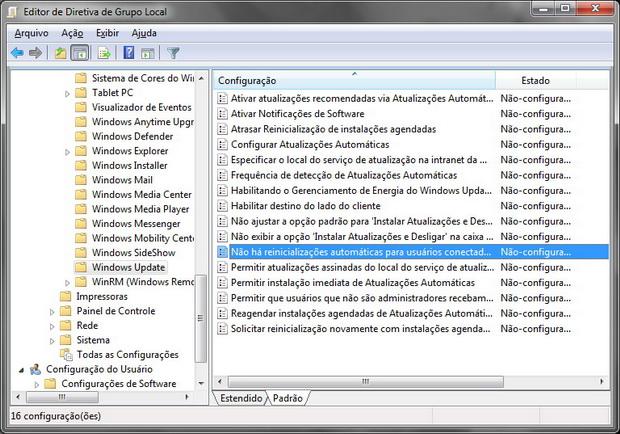 Opção 2: via gpedit.msc (Foto: Reprodução)