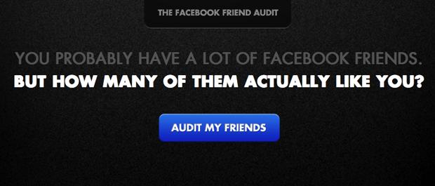 Facebook Friend Audit (Foto: Reprodução)