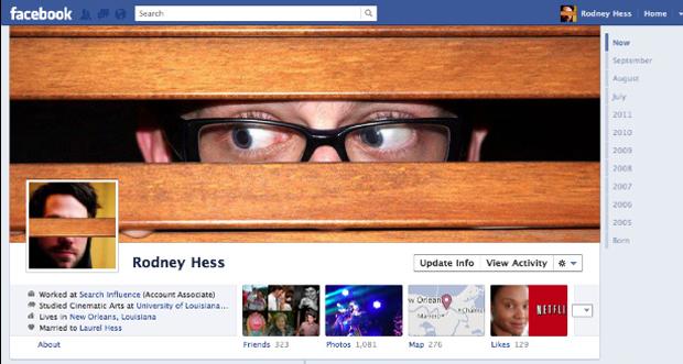 Criatividade na Timeline do Facebook. (Foto: Mashable)