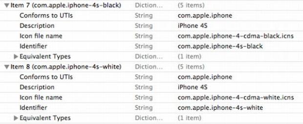 Descritivo aponta uma versão preta e outra branca do iPhone 4S (Foto: Reprodução)