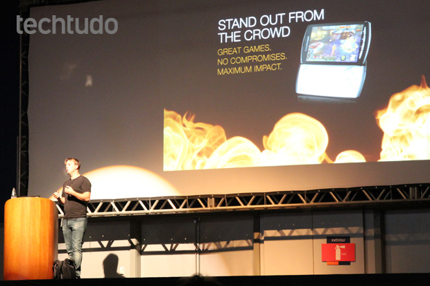 Palestra Sony Ericsson na Brasil Game Show (Foto: Allan Melo/TechTudo)