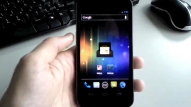 Imagem do vídeo vazado do Nexus Prime (Foto: Reprodução)