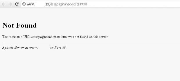 Erro 404 Not Found do HTTP (Foto: Reprodução)