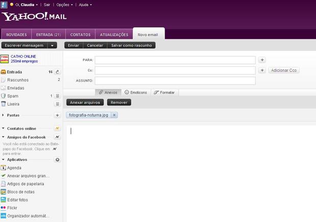 Anexo no Yahoo! Mail (Foto: Reprodução)