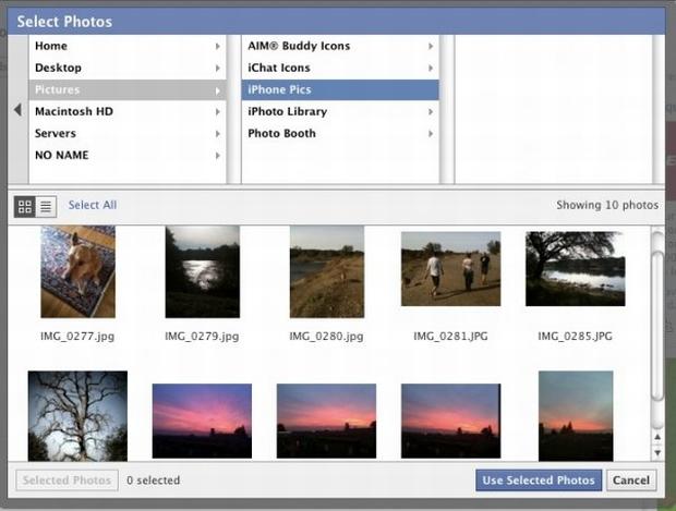 Nova interface de imagens do facebook (Foto: Divulgação)