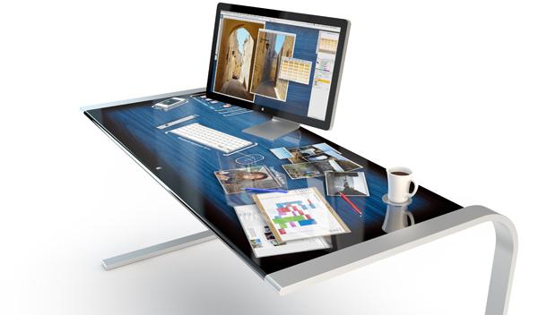 Mesa interativa iDesk se destaca pela sua versatilidade (Foto: Reprodução/Adam Benton)