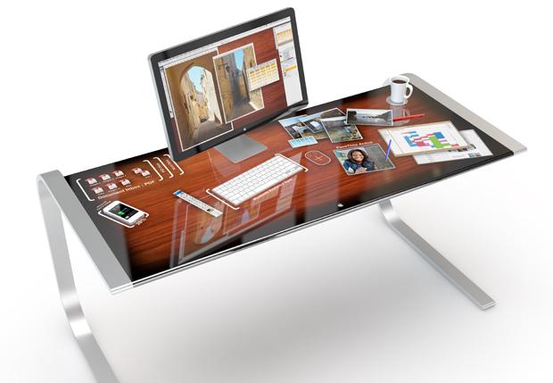 iDesk, conceito de mesa inteligente feita sob medida para os fãs do iOS (Foto: Reprodução/Adam Benton)