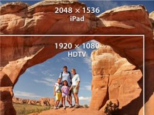Nova resolução de imagens do novo iPad (Foto: Divulgação) (Foto: Nova resolução de imagens do novo iPad (Foto: Divulgação))