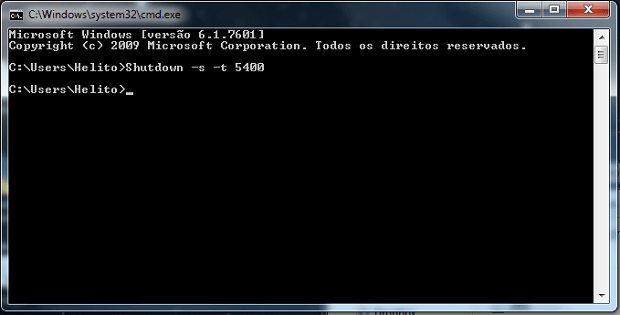 Prompt de comando do Windows (Foto: Reprodução/Helito Bijora)