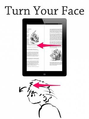 Basta mover a cabeça para folhear as páginas no MagicReader (Foto: Divulgação)
