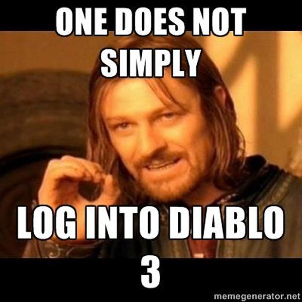 Boromir de Senhor dos Anéis já explicou. Uma pessoa não pode simplesmente se logar em Diablo 3 (Foto: IGN)