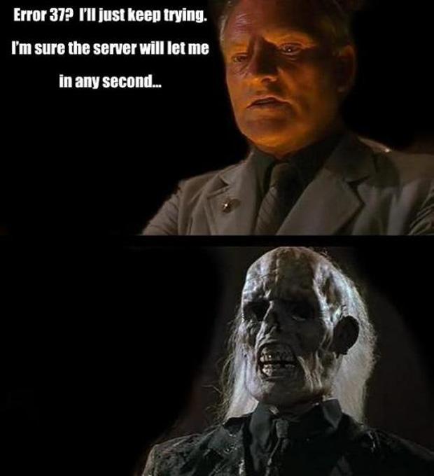 """Ninguém vai sentir sua falta em Indiana Jones: """"Error 37? Eu vou continuar tentando. Tenho certeza que o servidor vai me deixar entrar a qualquer minuto"""" (Foto: VentureBeat)"""