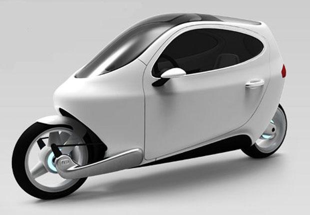 C-1 tem duas rodas, como uma moto, cabine, como um carro, e conectividade de um smartphone (Foto: Reprodução (Foto: C-1 tem duas rodas, como uma moto, cabine, como um carro, e conectividade de um smartphone (Foto: Reprodução)