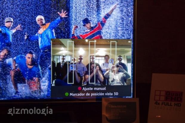 Nova TV 3D da Toshiba detecta os rostos do usuário, indicando a melhor posição na sala (Foto: Reprodução/Gizmologia)
