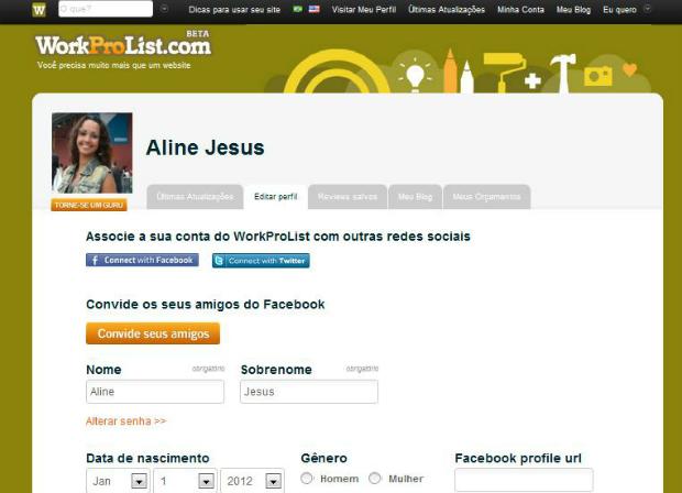 Editando outras propriedades do blog (Foto: Aline Jesus/Reprodução)