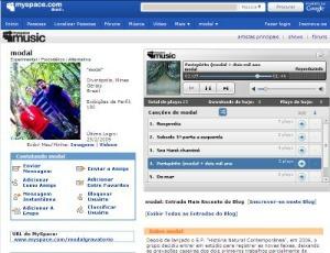 Interface do Myspace (Foto: Reprodução)