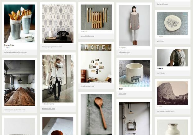 Imagens nos boards do Pinterest (Foto: Reprodução)