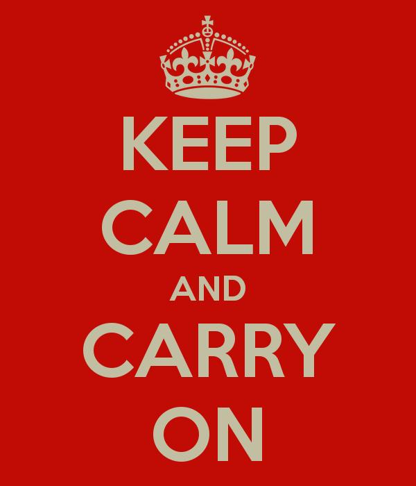 """O cartaz original """"Keep calm and carry on"""" (Foto: Reprodução)"""