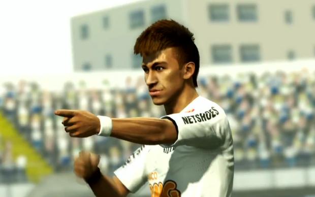 Neymar dança Ai se eu te pego em novo video de PES 2013 (Foto: Reprodução)