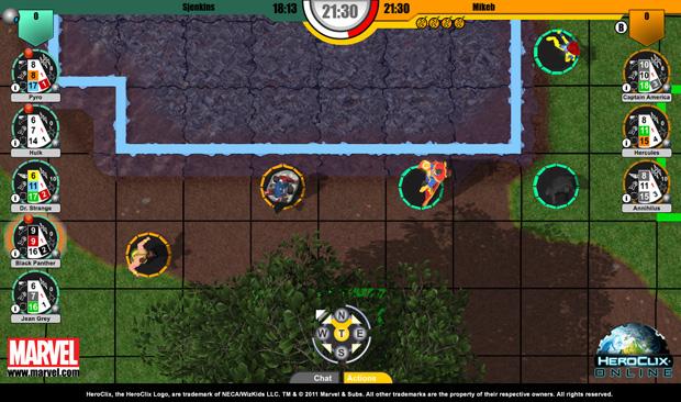 Visão superior do mapa de Heroclix Online (Foto: Divulgação)