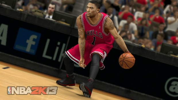 Derrick Rose, do Chicago Bulls, é um dos jogadores da capa do NBA 2K13 (Foto: 2KSports)