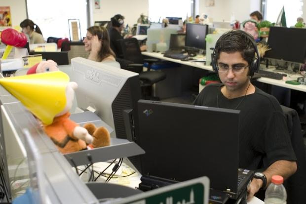Ambiente de trabalho descontraído da sede do Google em São Paulo (Foto: Divulgação/Google)