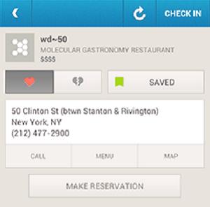 Foursquare agora oferece reservas de mesas (Foto: Reprodução)