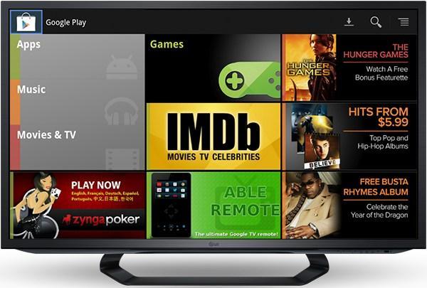Google Play, finalmente, chegou ao televisor da empresa (Foto: Reprodução)