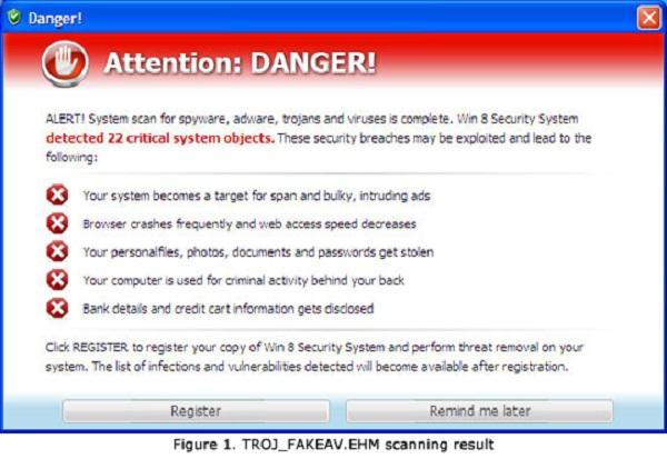 Antivírus falso, que circula na web, ameaça usuários do Windows 8 (Foto: Reprodução)