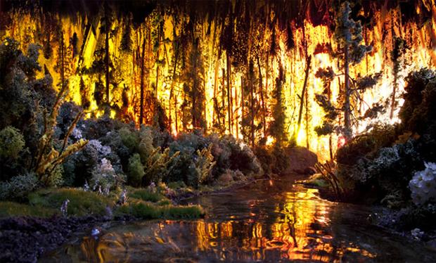 Maquete parece floresta de verdade (Foto: Reprodução/ Matthew Albanese)
