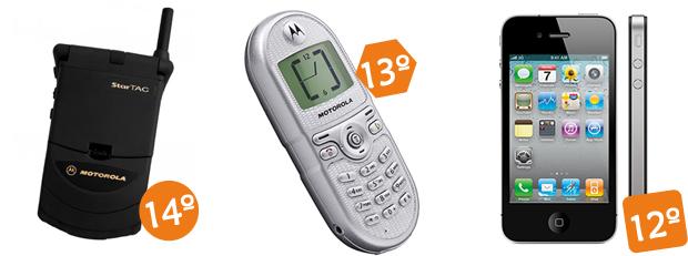 iPhone 4S ficou na 12ª posição, superando os Motorolas StarTAC e C200 (Foto: Arte/Divulgação)